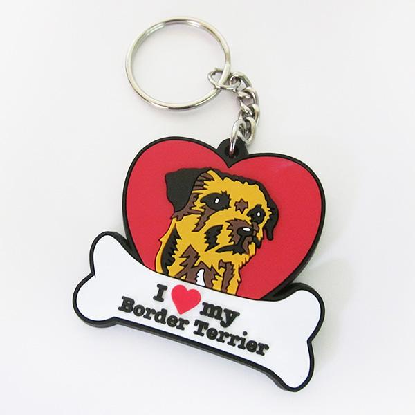 Moulded Border Terrier Keyring