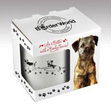 Boxed Border Terrier White China Mug