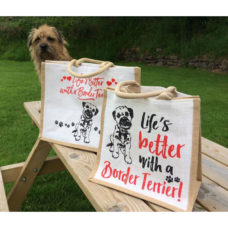 Large Border Terrier Jute Bags