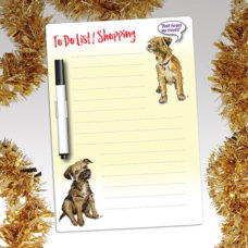 Border Terrier Fridge Magnet pad with pen