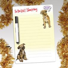 Border Terrier Fridge Magnet pad with pen