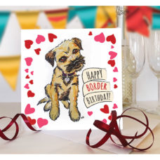 Border Terrier Birthday Card
