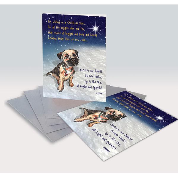 Border Terrier Christmas Cards
